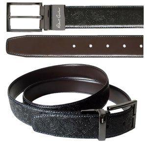 Robert Graham Men's Reversible Paisley Tooled Belt